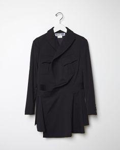 Comme des Garçons Comme des Garçons Pleated Wool Gabardine Jacket