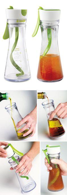 Perfect salad dressing mixer bottle #product_design