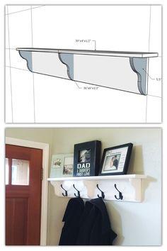Behind The Door Coat Rack Our New Coat Rack Behind The Front Door Our DIY  Pinterest