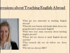 #Teaching #English #Abroad @ https://youtu.be/Pu13B5_DFAE