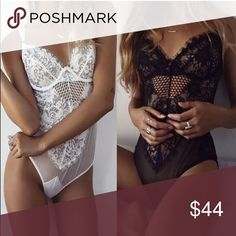 New stock in!🆕🎀Sexy Eyelash Lace Bodysuit-White 🆕🎀Sexy Eyelash Lace Lingerie Body Suit🎀 💕💕Available in White! 💕Black available in my other listing 💕Size S/M or M/L💕💕💕💕💕💕Brand New in Package/Unbranded💕💗💕💕Beautiful soft eyelash lace with stretch💕💕Wear as lingerie or as bodysuit💕Preorders being sold until new stock arrives! Price is firm unless bundled 😊 Intimates & Sleepwear Shapewear