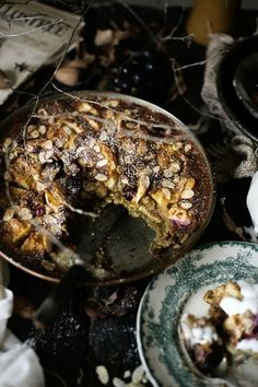 Gluten free apple, grapes and almond pudding