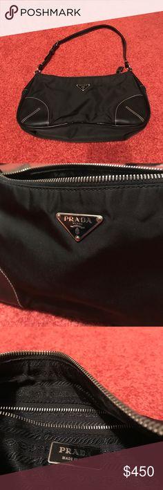 Prada Nylon Should Bag Black Prada Nylon shoulder bag. Excellent condition. Used one! Come with dust bag. Prada Bags Shoulder Bags