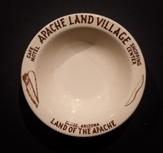 Apache Land Village Café, Motel and Shopping Center, Globe, Arizona. Made by Wallace China in 1954 & 1955. Rim Cereal Bowl. Offered by Track 16. http://www.track16.com #restaurantware #restaurantchina