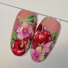 Cartoon Drawings Of People, Drawing People, Fruit Nail Art, Super Cute Nails, Floral Nail Art, Christmas Nail Art, Nail Art Designs, Blog, Manicures