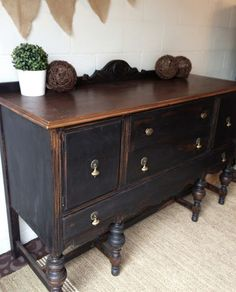 Repurposed Gems: black buffet