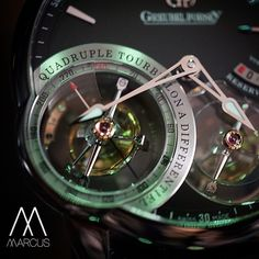 This is what the double tourbillon on a Greubel Forsey looks like