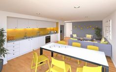 Choose from a range of high quality, high-tech and modern student accommodation rooms in York. One Wall Kitchen, Living Room Kitchen, Kitchen Walls, Dormitory Room, Student Bedroom, Student House, Property Design, Kitchen Images, Fashion Room