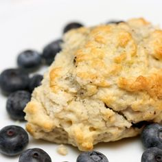 SKINNY SCONES: Mix 2 cups oat flour, 1/4 cup plus 3 tablespoons raw sugar, 1 teaspoon baking powder, 1/2 teaspoon salt, 4 tablespoons vegetable shortening, 1 mashed banana, 1/2 cup soy milk, and 1 1/2 teaspoons vanilla extract. (For moist scones, add blueberries.) Roll out to 1-inch thickness; cut with a biscuit cutter. Sprinkle lightly with raw sugar, and bake at 350° for 30 minutes, turning pan halfway through cook time. | health.com