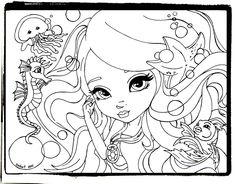 Lisa Frank coloring pages free printable for girls