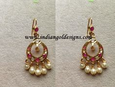 Gold and Diamond jewellery designs: uncut diamond earrings Jewelry Design Earrings, Gold Earrings Designs, Gold Jewellery Design, Gold Wedding Jewelry, Bridal Jewelry, Gold Jewelry, Quartz Jewelry, Luxury Jewelry, Jewlery