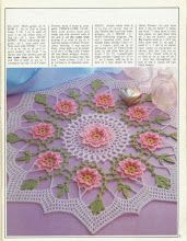 Magic Crochet n° 64 - leila tkd - Picasa Web Album Crochet Chart, Filet Crochet, Crochet Motif, Crochet Doilies, Crochet Round, Doily Patterns, Crochet Patterns, Doily Rug, Crochet Decoration
