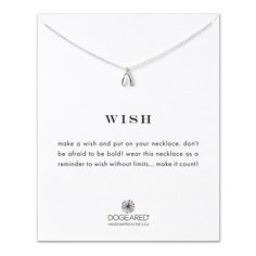 wish wishbone necklace, sterling silver | #PinWith♥ #dogeared #GiftHeart