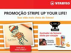 A queridinha do júri da última semana na promoção Stripe Up Your Life foi a Grazi, de Salvador. ;)