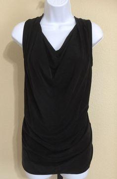 Drew Women's Black Sleeveless Drape Neck Blouse Size S NWT #Drew #Blouse #Casual