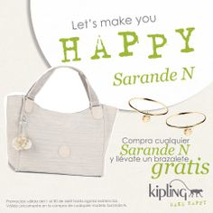 ¡Ven a Kipling México, compra cualquier #SarandeN y llévate un brazalete gratis!