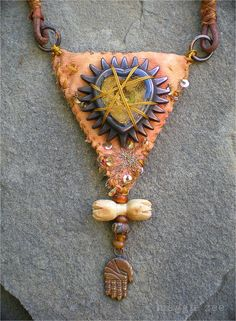 The Captured Heart Protective Amulet Necklace door maggiezees, $105.00
