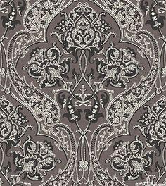 Downton Abbey - Dowager's Damask - Smoke Gray