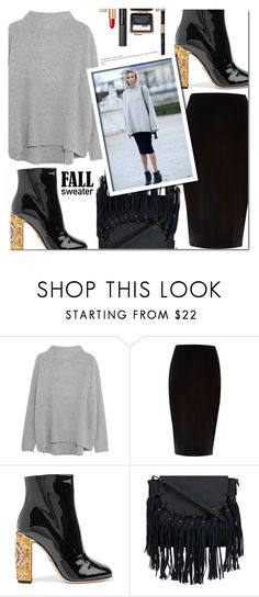 """""""Chaleco"""" by andrepais ❤ liked on Polyvore featuring Vince, River Island, Dolce&Gabbana, Anja and Estée Lauder"""