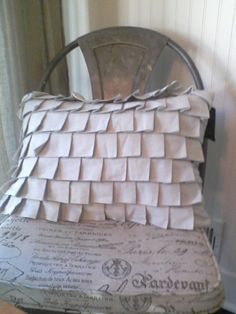 Beautiful Box Pleat pillow from Milk and Honey at Home.