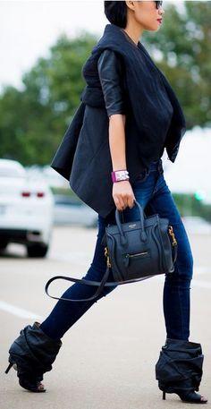 Black mini Celine luggage bag! Join wantering.com