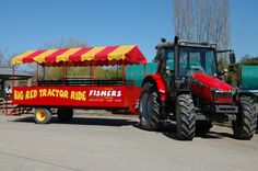 Big Red Tractor Ride at Fishers Farm