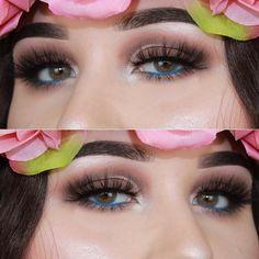 "A flower beauty @makeupedka. Lenses: #juiceblue. Use code ""TTDPIN"" get 10% off. #contactlenses#coloredlenses#glitters#beautifulmakeup#eyemakeup#like4like#coloredcontacts#contactsonline#eyecontact#ordercontactsonline#cheapcontactlenses#makeuptrend#flawlesssdolls#dressyourface#influencer#bblogger#cosmeticlens#fashionmakeup#makeupworld#likeforlike#eyesmakeup#contactlenses#contactlens#makeup#makeupoftheday#ttdeye"