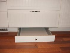 Toe kick drawer!  DIY instructions to add more storage space