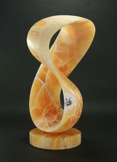 T Barny, Hyoid, Utah Calcite, 22 x 13 x 11, SOLD