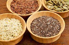 Healthy seeds to boost immune system:  Chia Seeds (omega 3s),  Flax Seeds (Omega 3s),  Hemp Seeds,  Pumpkin (anxiety),  Sunflower Seeds (Vita B,E),  Wheat Germ (Constipation)