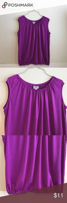 """Worthington Petite Stretch Magenta Tank Top This is a Worthington Petite Stretch Magenta Tank Top. In good pre-owned condition! A great top to wear to work or for a night out! Measurements are about 21"""" long, about 18.5"""" from underarm to underarm and the waist is about 16"""" wide. Worthington Tops Tank Tops"""