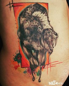 Özgür Tosun skydream tattoo zgrtattoo@hotmail... 00905393754641 TURKEY Antalya  wathercolor colors lion aslan tattoo dövme