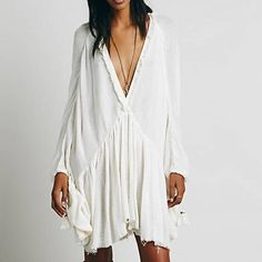 I just discovered this while shopping on Poshmark: Free People Get Yer Gauze Tunic •SOLD ON MERCARI•. Check it out!  Size: S