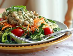 Candida Diet, Grain-Free Pesto Bean-Topped Salad | Diet, Dessert and Dogs