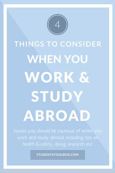 If you're looking for a way to give your CV a boost, and you want to get away from your country for a while, you might want to look into doing work experience abroad. It's a great way to explore a different culture while helping you develop skills in your chosen area. It's also a great way