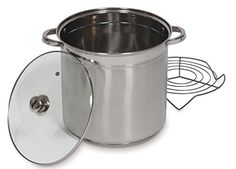 Best Wine Rack | Grande Epicure Heuck Classics Encapsulated Stainless Steel Tamale and Steamer Stock Pot 16Quart Silver * You can get additional details at the image link. Note:It is Affiliate Link to Amazon.