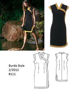 2012-02-111 Burda Style Cheongsam dress