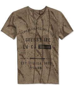 Guess Hart Graphic T-Shirt  Splatter look in background