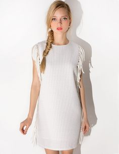 White Fringe Dress  $85.00