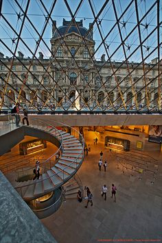 Pyramide du Louvre  Paris France. So many amazing arts and antiquities housed within that it is really overwhelming.