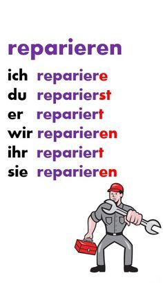 Study German, German English, Learn German, Learn French, German Grammar, German Words, Teaching French, Teaching Spanish, Deutsch Language