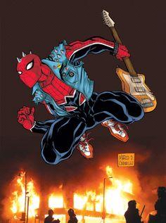 Spider-Punk - Amalgam favourites by Marco Carillo DeviantArt -  Spider-Man ...