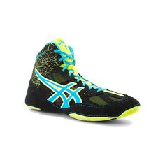 ASICS® Cael V6.0 ($85) ❤ liked on Polyvore featuring shoes, athletic shoes, women's, wrestling shoes, lightweight shoes, asics, lace shoes, asics footwear und asics shoes