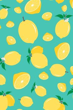 Lemon seamless pattern by Caro Terranova Summer Wallpaper, Cool Wallpaper, Pattern Wallpaper, Wallpaper Backgrounds, Fruit Pattern, Cute Pattern, Pattern Design, Food Patterns, Print Patterns