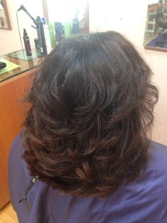 After root touch up and trim with curls! Hair by Erin @ Salon Euphoria #253-852-1440