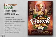 Summer Beach Flyer Template V3 | The Hungry JPEG