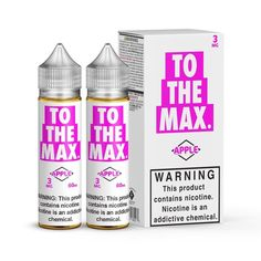 Apple by To The Max 120ml - Yep you nailed it, the BEST DAMN APPLE... Smoking Cessation, Vape Shop, Vape Juice, You Nailed It, Water Bottle, Apple, Apple Fruit, Water Bottles, Apples