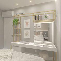 Bad Room Design, Gold Bedroom Decor, Bedroom Closet Design, Home Room Design, Family Room Design, Closet Designs, Small Bedroom Inspiration, Cute Bedroom Ideas, Modern Kids Bedroom