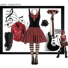 """""""Judy Nails - Guitar Hero"""" by kary-trevino on Polyvore"""