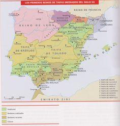 ad 1010 los primeros reinos de Taifas.